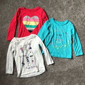 Little Girl Long Sleeve Shirt Bundle